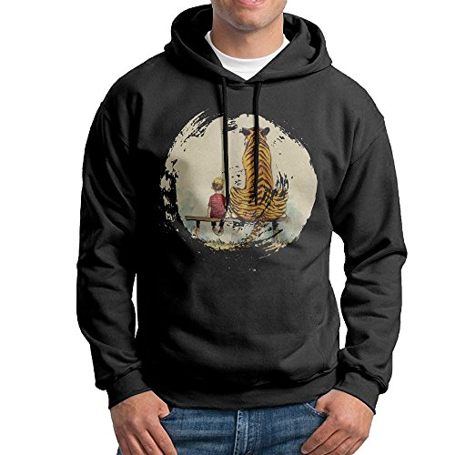 MNSTK Calvin And Hobbes Long Sleeve Crew-Neck Sweatshirt Hoodies]()