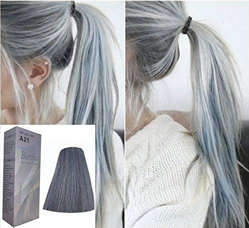 Berina A21 Hair Colour Permanent Hair Cream Dye Light Ash