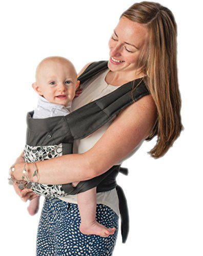 FLASH SALE CuddleBug 3-in-1 Mei Tai Carrier With Hood - 100% Cotton Mei Tai Front Carrier - Fully Adjustable - Baby Shower Gift - Perfect for Nursery Sets - Unisex (Floral White)