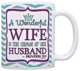 Best ThisWear Wife And Mom Coffee Mugs - Christian Gift Wife is Crown of her Husb Review