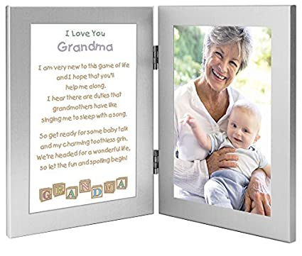 Gift For Grandmother From Grandchild Touching Grandma Poem Baby Add Photo