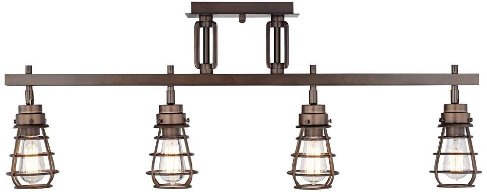 industrial track lighting fixtures. pro track bendlin industrial 4light bronze fixture amazoncom lighting fixtures