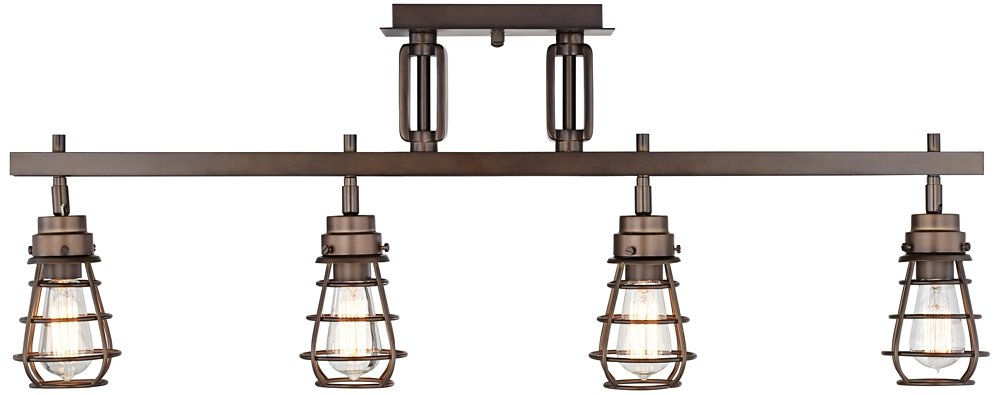 Pro Track Bendlin Industrial 4-Light Bronze Track Fixture by ProTrack
