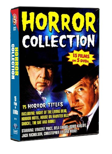 Horror Collection-15 films: Night of The Living Dead, Horror Hotel, House on Haunted Hill, Shock!, The Bat by TGG Direct, LLC