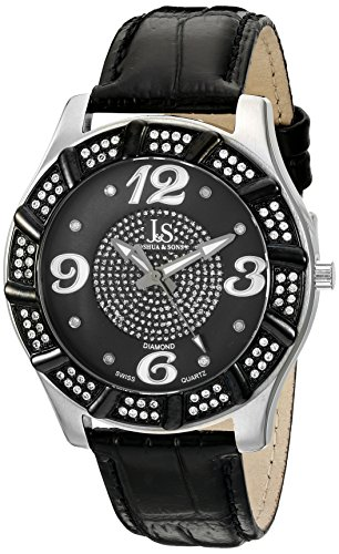 Joshua & Sons Men's JS-17-SS Swiss Quartz Diamond Watch