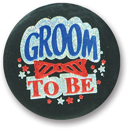 Groom Satin Button Party Accessory