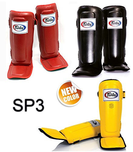 FAIRTEX SP3 IN-STEP DOUBLE PADDED PROTECTOR SHIN PADS FOR MUAY THAI BOXING KICKBOXING MMA