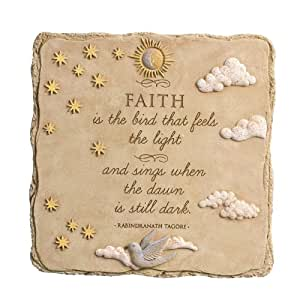 Grasslands Road Faith is The Bird Square Stepping Stone, 10-Inch