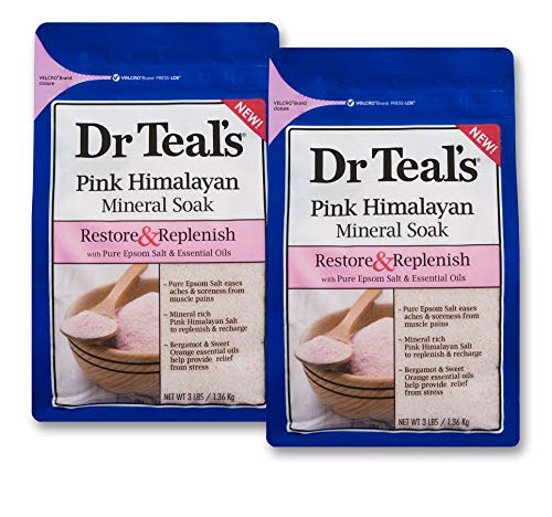 - Dr Teal's Restore & Replenish Pure Epsom Salt & Essential Oils Pink Himalayan Mineral Soak 48 Oz Dr. Teal's (Pack of 2)
