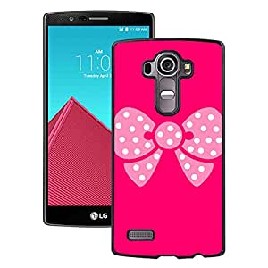 Beautiful LG G4 Cover Case ,Abstract Cute Bowknot Black LG G4 Phone Case Unique And Durable Designed Screen Case