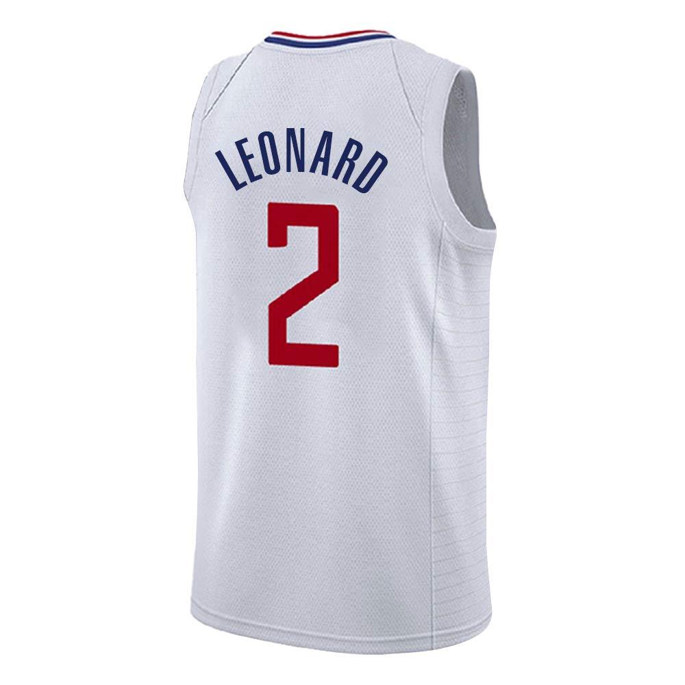 blanc XS Maillot Leonard No. 2 de Los Angeles Clippers, Maillot Leonard   2, Maillot de Basket-Ball, Ensemble sans Manches Classique, T-Shirts de Basket-Ball pour Hommes et Unisexes, Cadeau de la ligu