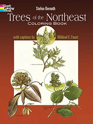 Trees of the Northeast Coloring Book (Dover Nature Coloring Book)
