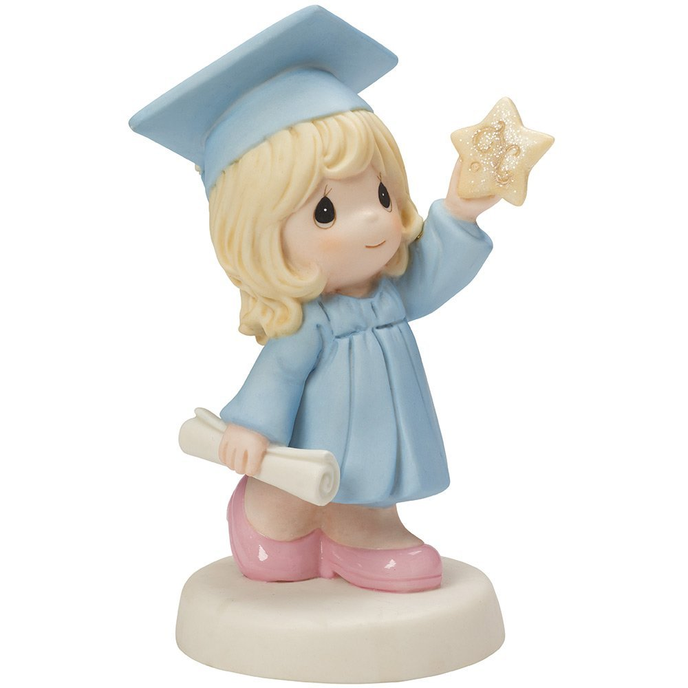 Precious Moments, Reach For The Stars, Bisque Porcelain Figurine, Girl, 154025