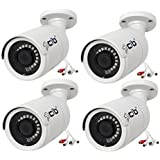 CIB 4 x 5 Megapixel H264/H265 POE IP67 Vandal Bullet IP Security Color Camera, Wide Lens 2.8mm, Audio In and Out- NCJ5M56W-4