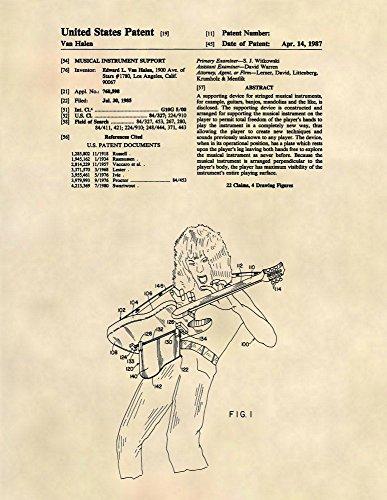 Patent Prints - Eddie Van Halen Guitar - Guitar Wall Art - Patent Poster - 133