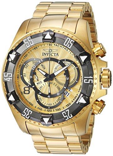 Men's Excursion Titanium Quartz Watch with Stainless-Steel Strap, Gold, 26 (Model - Invicta 24266