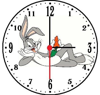 Rusch Inc. Bugs Bunny Wall Clock
