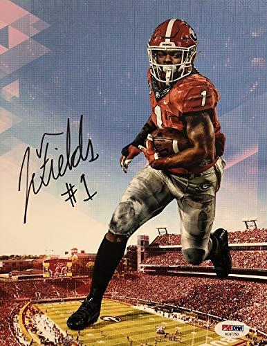 Justin Fields Autographed Signed Memorabilia Georgia Bulldogs 8x10 Photograph ()