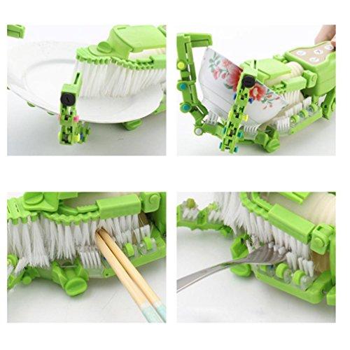 Makaor Handheld Automatic Dish Scrubber Brush Antibacterial Kitchen Dishwasher Brush Kitchen Cleaning Tool Automatic Dish Scrubber Brush (Green, Size:41.8cm x 11.5cm x 7cm) by Makaor (Image #5)
