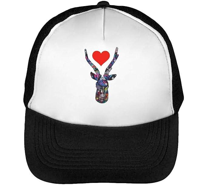 Deer Heart Tumblr Gorras Hombre Snapback Beisbol Negro Blanco: Amazon.es: Ropa y accesorios