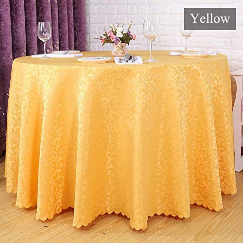 Ship Free 10PC/Lot Elegant Table Cloth Dinner Table Cover 132 Round Seamless Tablecloth Mantle for Weddings Easter Party Decor   B07QYW8R44