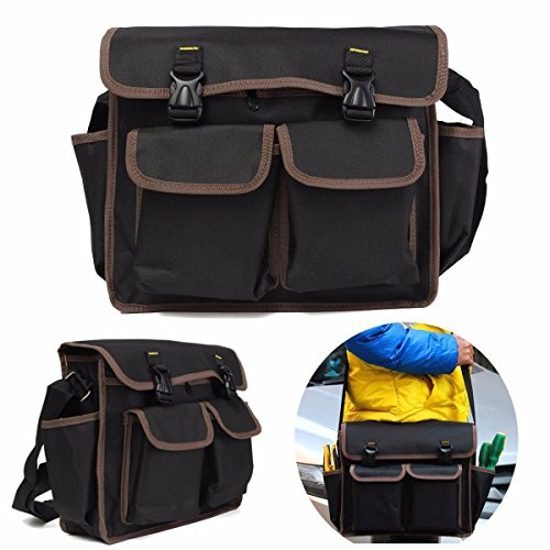 Hanperal Black Thicken Oxford Waterproof Hardware bag Tool kit Shoulder Strap style Tool Backpack