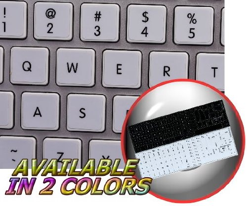 (ENGLISH NON-TRANSPARENT KEYBOARD STICKERS ARE COMPATIBLE WITH APPLE)