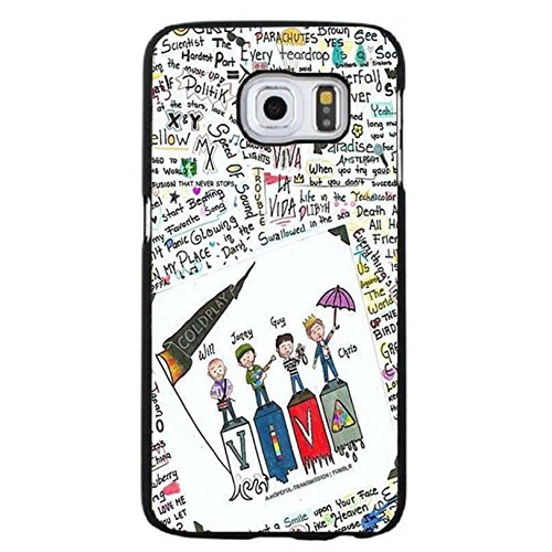 Coque Samsung Galaxy S6 Edge Plus Coldplay Hybrid Cover Shell Special Doodles Style Britpop/Alternative Rock Band Coldplay Phone Case Cover for Coque Samsung Galaxy S6 Edge Plus,Cas De Téléphone
