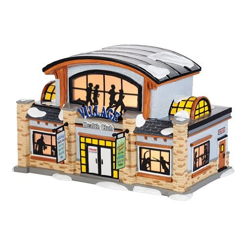 Village Health Club | Department 56 Lighted Building (4036568) (Club Village)