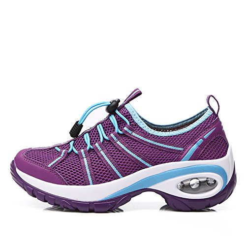 Platform with Shoes On Slip Bottom Purple Enllerviid Jogging A17803 Walking Thick Running Fitness Women tz6qqxwAZ