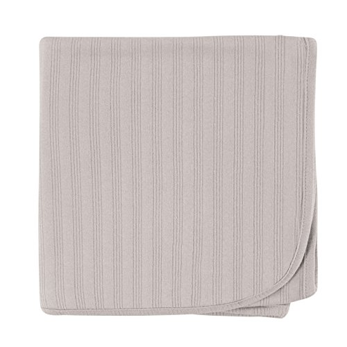 Touched by Nature Organic Cotton Receiving Blanket, Grey (Gray Organic Blanket)