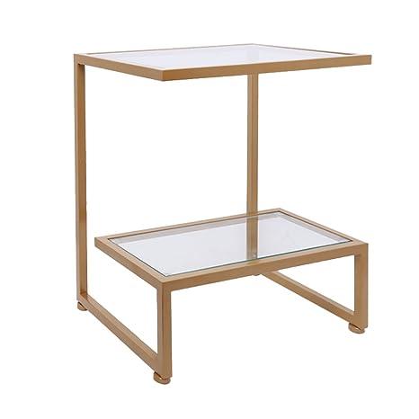 Tavolo In Ferro Battuto E Vetro.Lpymx Tavolino Divano Tavolino Angolare Tavolino In Ferro