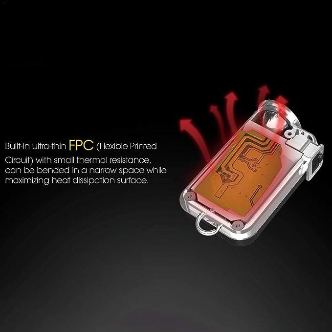 iBellete Nitecore TINI Keyring Torch Small Torch 380 Lumensc Super Bright USB Rechargeable Key Chain Flashlight