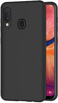 AICEK Funda Compatible Samsung Galaxy A20e, Negro Silicona ...