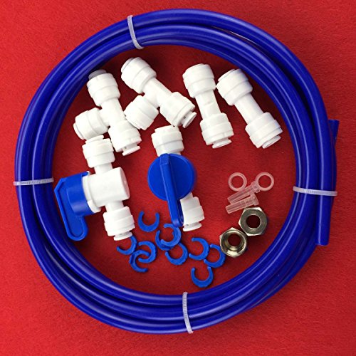 Malida RO Water Systems Ice Maker Kit 1/4'' for Reverse Osmosis Systems and Water Filters (blue) by Malida