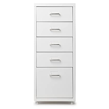 ikayaa office steel file cabinet 5 drawers detachable mobile metal storage with 4 casters metal storage cabinet o69 cabinet