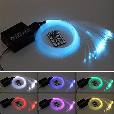 CHINLY 16W RGBW LED Fiber Optic Light Star Ceiling Kit Lights 150pcs 0.75mm 6.5ft/2m Optical Fiber Lamp+RF 28key Remote Engine