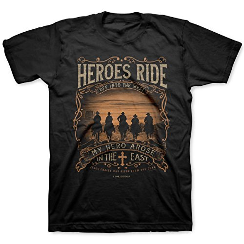 (Heroes Ride Adult T-Shirts - Christian Fashion Gifts )