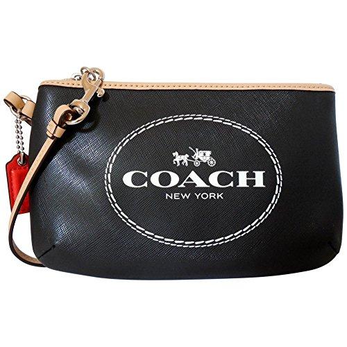 Coach-Horse-Carriage-Saffiano-Leather-Wristlet-Medium