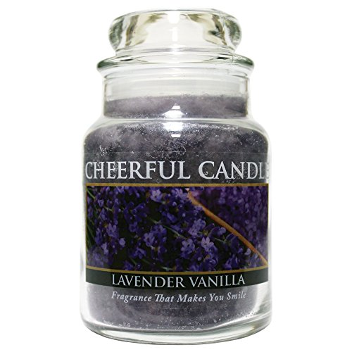 A Cheerful Giver Lavender Vanilla Jar Candle, 6-Ounce
