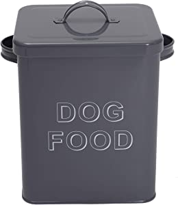 Pethiy airtight Dog Treat Container bin and Dog Food Storage Tin with Lid with Handle | 4-5 lbs Capacity | Serving Scoop Included