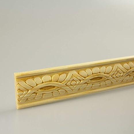 Profilleiste Zierleiste Abschlussleiste Bastelleiste aus geschliffenem Kiefer-Massivholz 2400 x 10 x 15 mm
