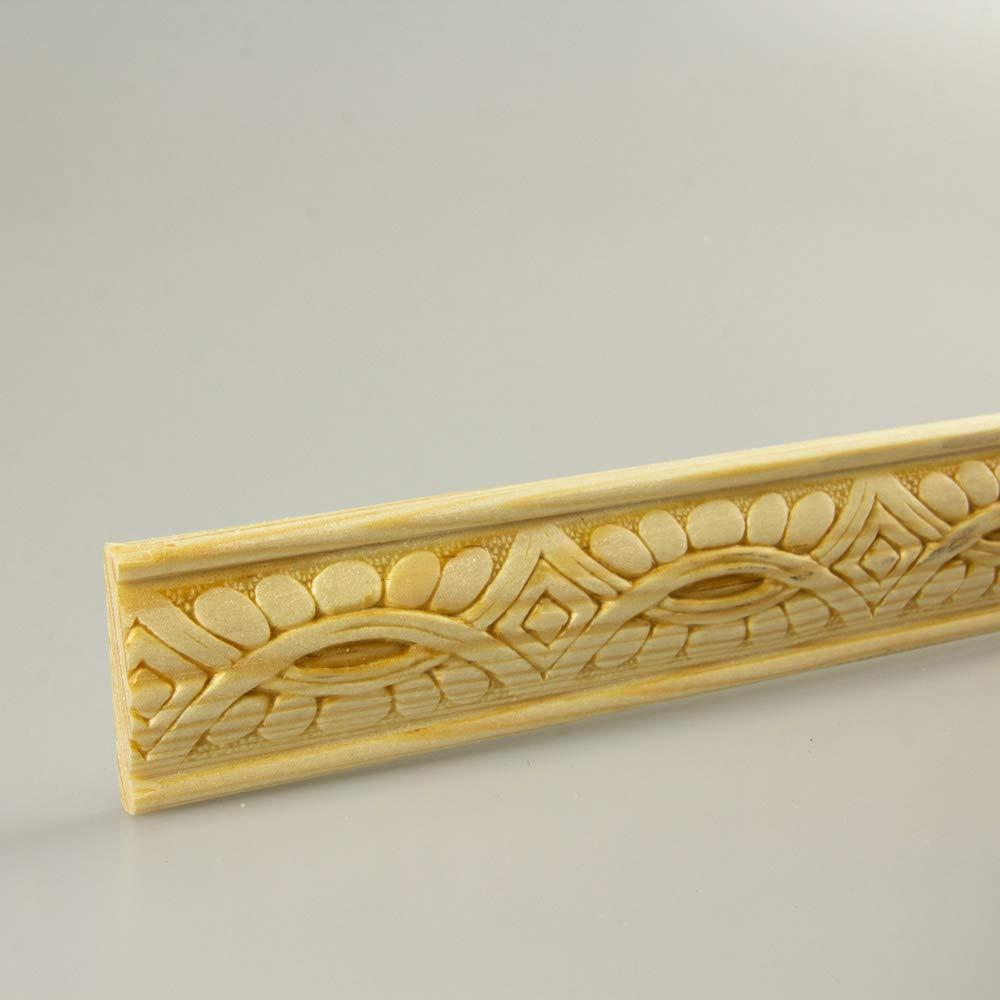 Prä geleiste Schnitzleiste Profilleiste Zierleiste Abschlussleiste Bastelleiste aus geprä gtem Kiefer-Massivholz 1000 x 31 x 7 mm HDM