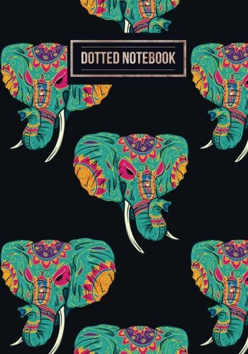Dotted Notebook: Elephants Design | Work Book, Planner, Dotted Pattern Notebook, Bullet Journal, Sketch Book, Math Book, Dot Grid Book For Everyday Use | 150 pages (Dot paper) (Volume 34)