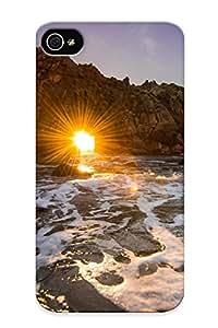 Defender Case For Iphone 4/4s, California Ocean Rock Sunset Pattern, Nice Case For Lover's Gift