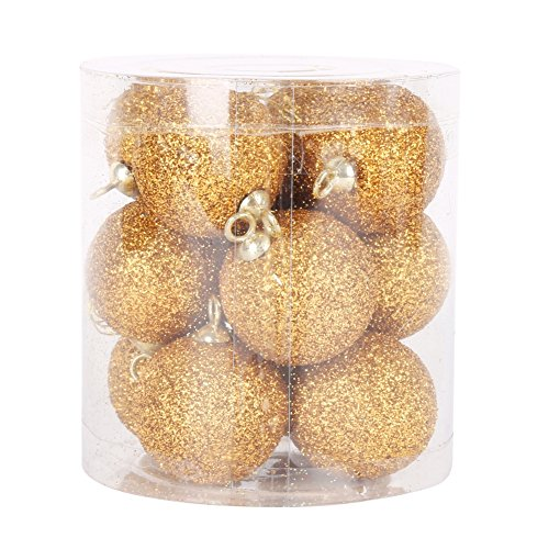 Weixinbuy Christmas Ball Ornaments Shatterproof Hanging Ornaments Balls Set for Indoor Outdoor Christmas Tree, Holiday Party, Home Decor 12/Pack