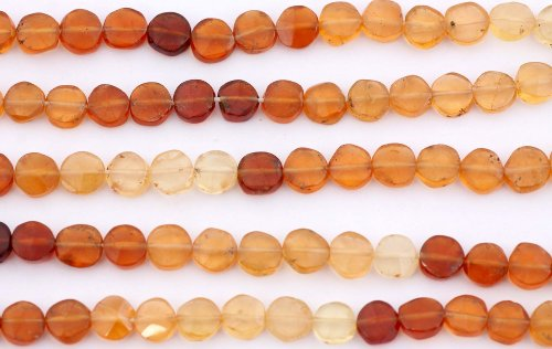 Faceted Hessonite Coins -