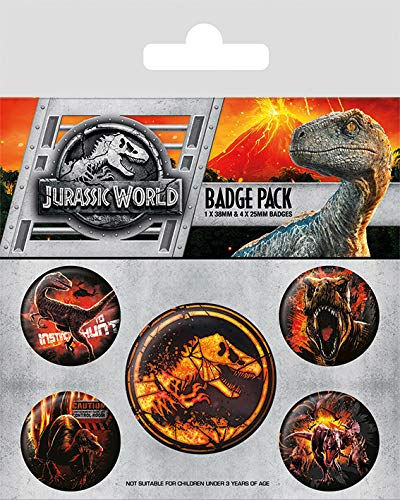 Jurassic World Fallen Kingdom - Badge Pack: Amazon.es: Hogar