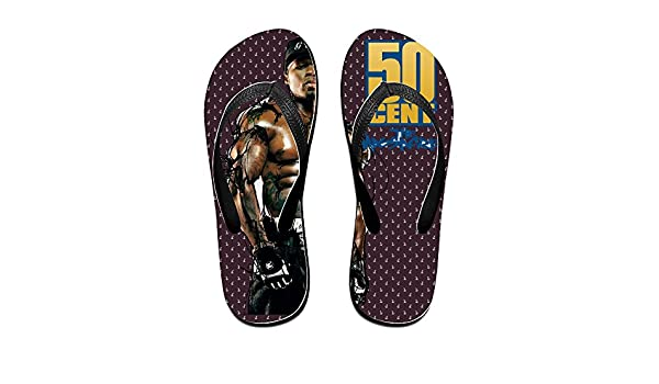 ef16c7c71716 Ogbcom 50 Cent Flip Flops for Unisex  Amazon.ca  Shoes   Handbags