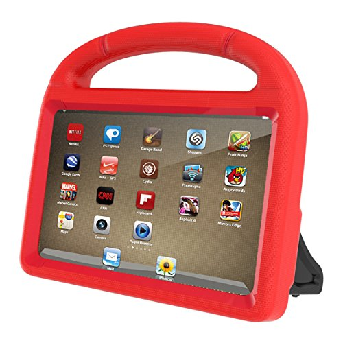 All New Fire 7 2017 Case, Fire 7 2015 Tablet Case,HETBEES Light Weight Kids Shock Proof Stand Handle Kid-Proof Case Cover for Amazon Fire 7 Tablet(2015&2017 Release) -Red